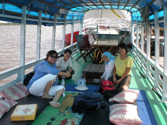 Kalimantan Tengah, Indonesia: our boat, where we lived for 5D/4N