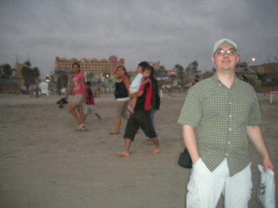 Rosarito, Mexico: My friend again on the beach there. We tried to get there earlier, but we got back late from Pue