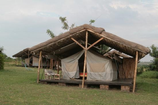 Kitandara Hippo Hill Camp: Front view of my tent