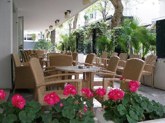 Hotel Plaza: Terrace in April