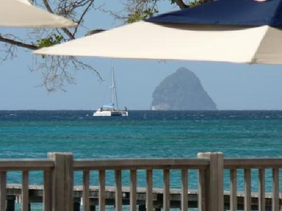 Club Med Les Boucaniers : Vue du bar Le rocher du Diamant
