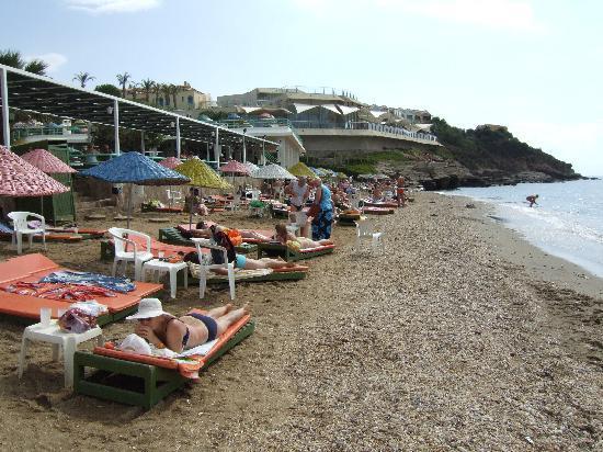 Grand Efe Hotel: Teh beach