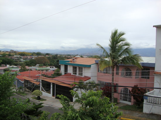 Alajuela Tropical Hostel: view from our room