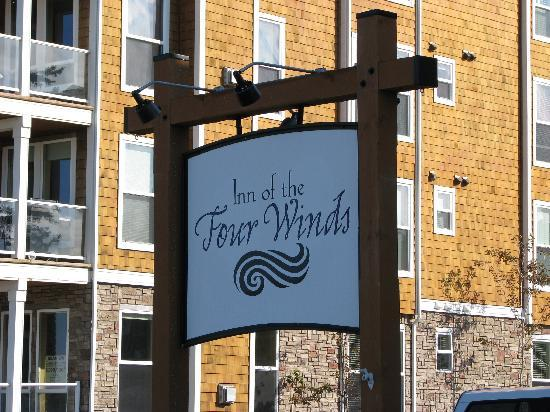 Inn of the Four Winds: The sign and view to the west of the Inn