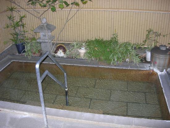 Miyukiya : one of the private outdoor bath at night