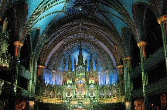Montreal, Canadá: Inside Notre Dame Basilica