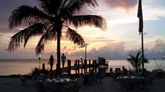 Marker 88 : Our table is closest to the water.  Excellent 4-star dining with breathtaking views in Islamorad