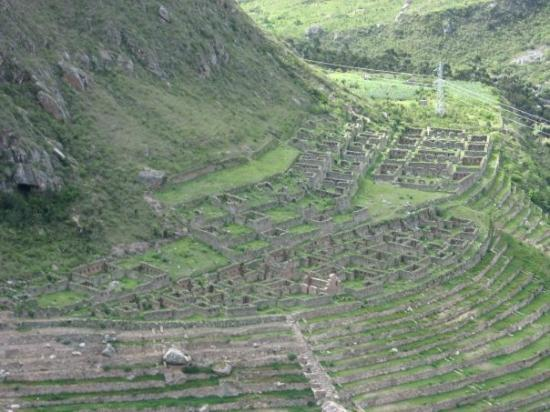 Llaqtapata : Ruins in the valley on the Inca Trail, Peru.
