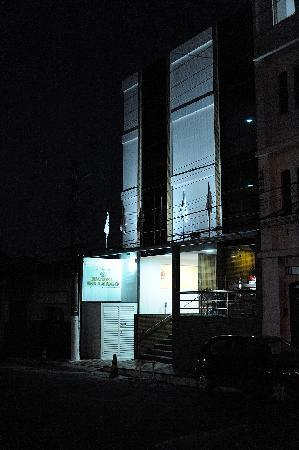 Hotel do Largo entrance at night
