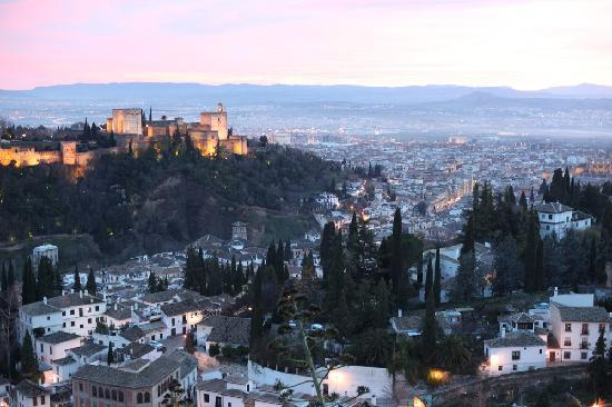 Rambutan: The Alhambra (left) Moorish quarter (front) and Granada (far right) from the hill just behind Ra