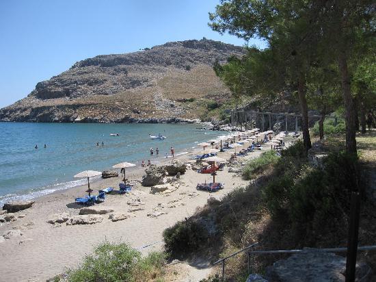 Lindos Blu: La spiaggia
