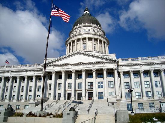 Utah State Capitol: entrance to capitol