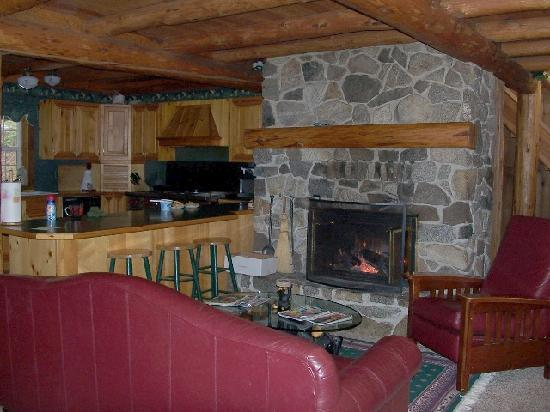 Ponderosa Country Inn : Lovely stone fireplace surround