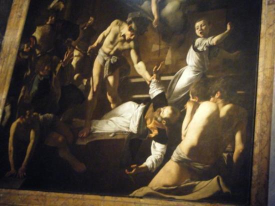 "Church of St. Louis of the French: Caravaggio ""Peter's Cricifixion"" in San Luigi de Francesco"