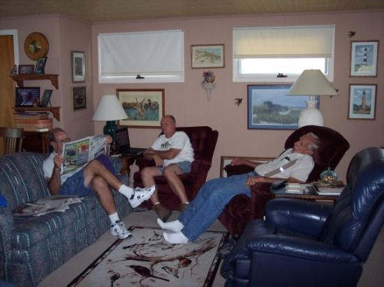 New Castle, IN: The men relaxing.