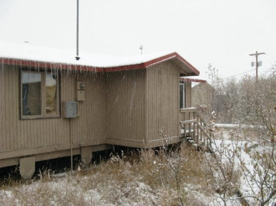 Emmonak, AK: That is my house. You can see icicles on the roof.