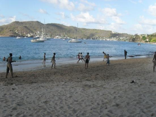 Bequia: Football game at lower bay