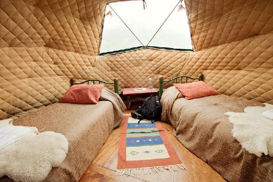 Ecocamp Patagonia: inside a dome