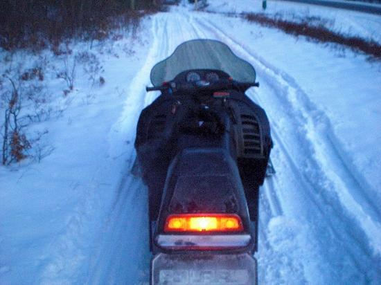 AmericInn Minocqua: Direct snowmobile trail access from their back door!