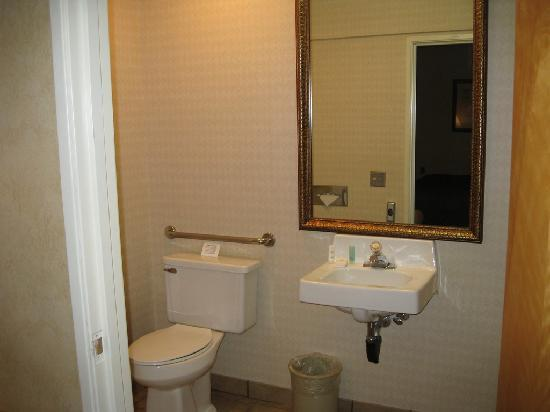 Comfort Inn Trolley Square: Bathroom with no counter space
