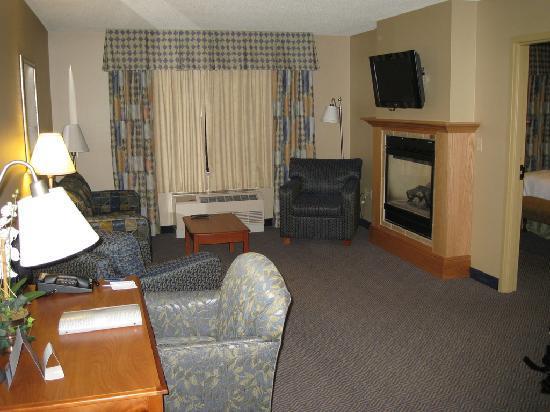 Hampton Inn Rutland/Killington: Sitting/Desk area