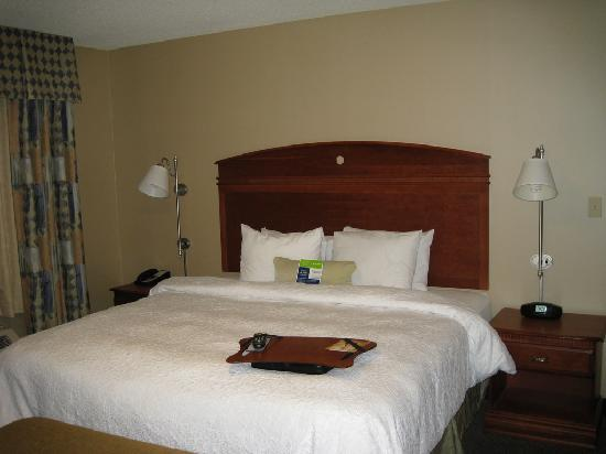 Hampton Inn Rutland/Killington : King size bed