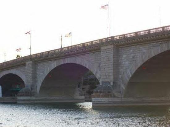 The London Bridge. Witches and Sinners were hung from this bridge hundred years ago.