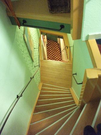 Hotel Internationaal: View from top floor of rooms, steep stairs but lots of hand rails!
