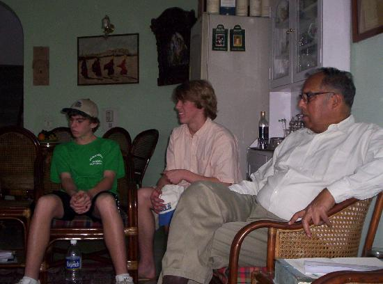 Comfort Homestay- Kotla: The Major with us in his sitting room