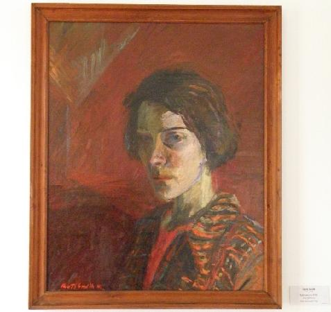 Ruth Smith Art Museum : Ruth Smith, Oil Painting, Self portrait