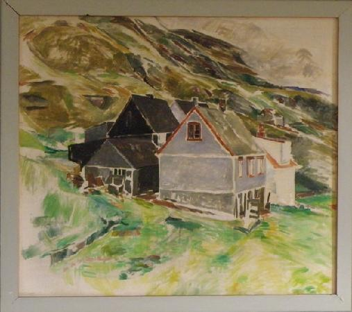 Ruth Smith Art Museum : Ruth Smith, Painting of the village Nes in Suduroy.