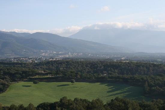 Montseny from a hot-air balloon