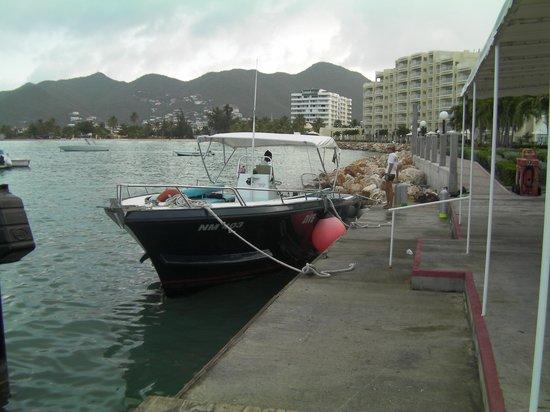 Aqua Mania Adventures: The diving boat.