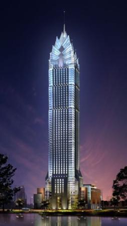 Wenzhou, China: 溫州世貿中心大樓