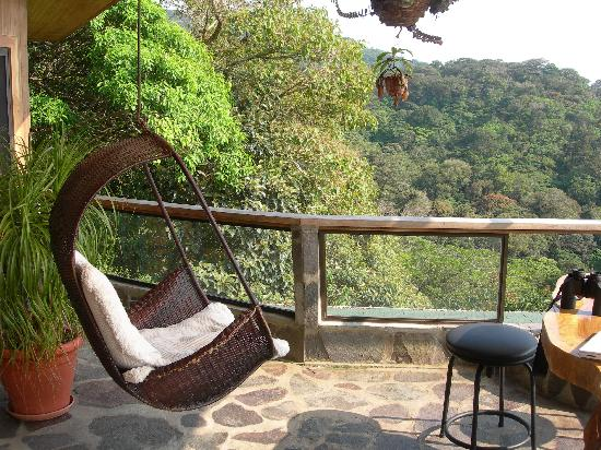 Hidden Canopy Treehouses Boutique Hotel: email and birdwatching in comfort