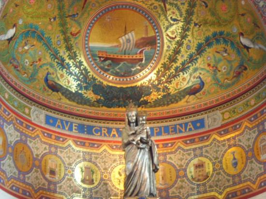 Basilique Notre Dame de la Garde: interor our lady of the gard intention to protect sailors and Marseille