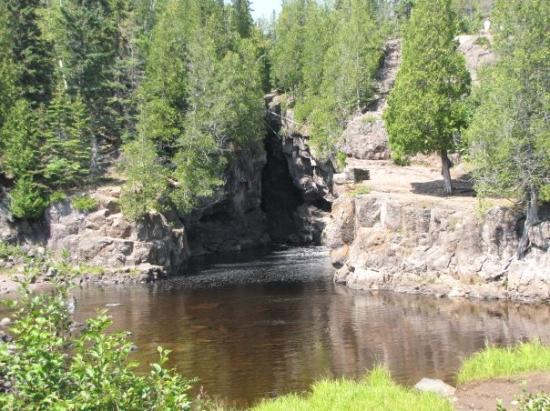 Cascade River State Park, Cascade River Hidden Falls. Look Close.