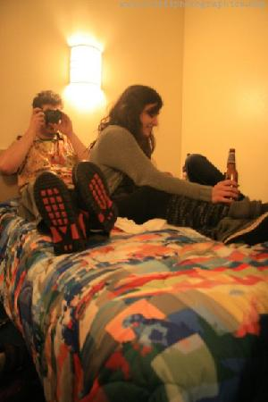 "Motel 6 Portsmouth: this is us being ""rowdy"""