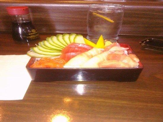 Chirashi from Yoko Sushi in Roseville CA
