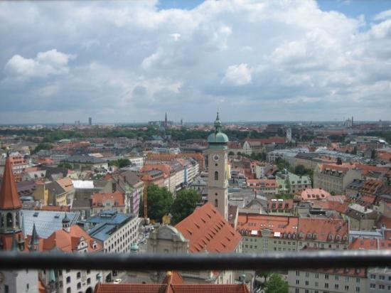 Ландсхут, Германия: view of munich from the top of the clock tower