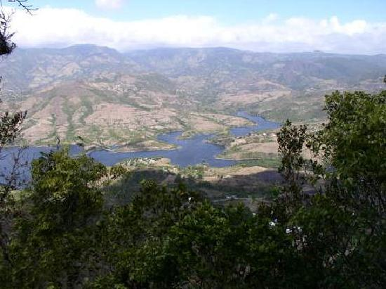 Adjuntas, Puerto Rico: Lake from Mountains