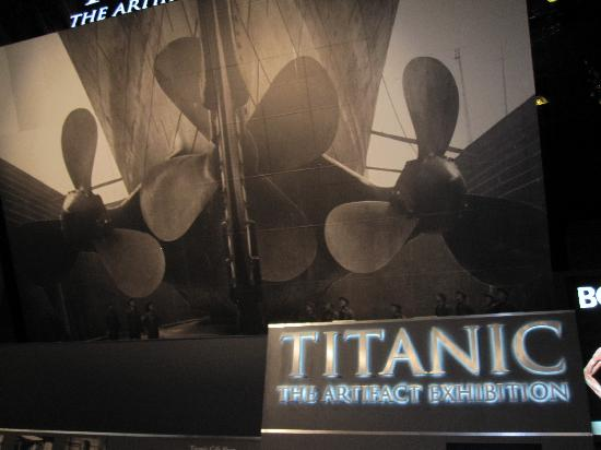 Titanic: The Artifact Exhibition: outside the exhibit in Luxor