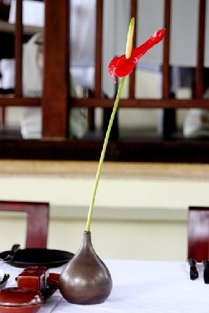 Belmond Napasai: flower at breakfast