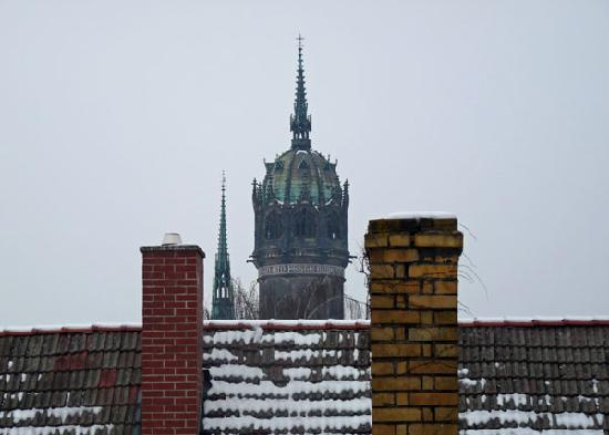 Ringhotel Schwarzer Baer: Schwarzer Baer, Blick zur Schlosskirche