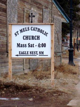 Not only am I saint, but I have my own church. Eagle Nest, NM