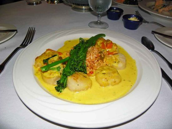 The Peacock Dining Room: Sea Scallops