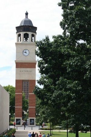 "Western Kentucky University : Guthrie tower. Jeff calls it the ""really loud bell"". He will pass through this many times as is"