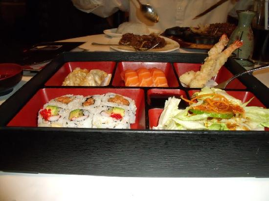 bento box picture of axia restaurant and bar mississauga tripadvisor. Black Bedroom Furniture Sets. Home Design Ideas
