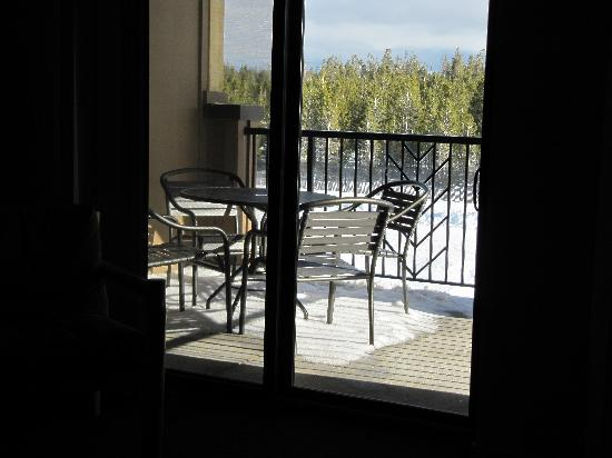 WorldMark West Yellowstone: Our balcony overlooking the Discovery Grizzly and Wolf Center