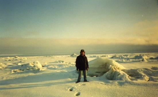 Saint George Island, AK: Isa suyun uzerinde yurumus... Al iste ben de yuruyorum hem de denizin ustunde.
